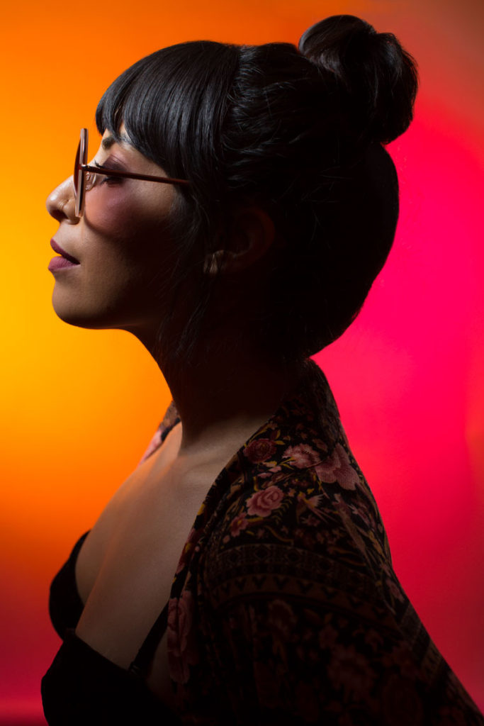 Profile Portrait of woman with Glasses