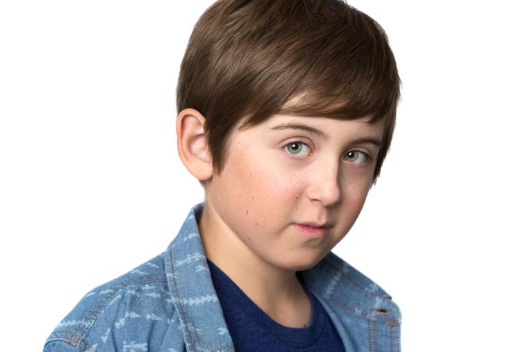Headshot of young boy actor