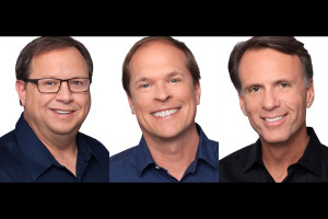3 Executive in Headshots with white background.