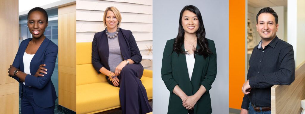 Portraits of Employees and Executives