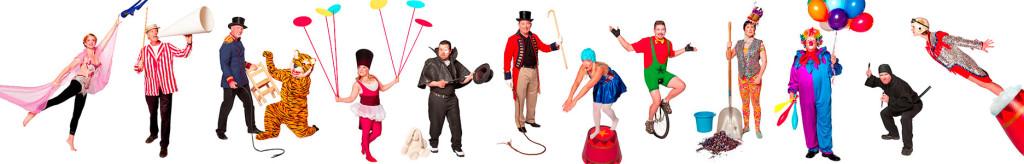 12 People Dressed as Circus Performers