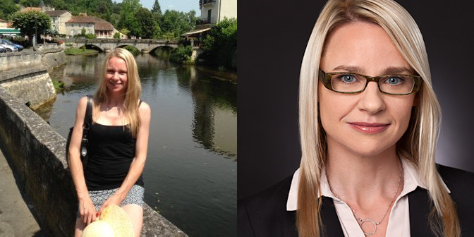 Diptych with before and after headshots showing how to crop.