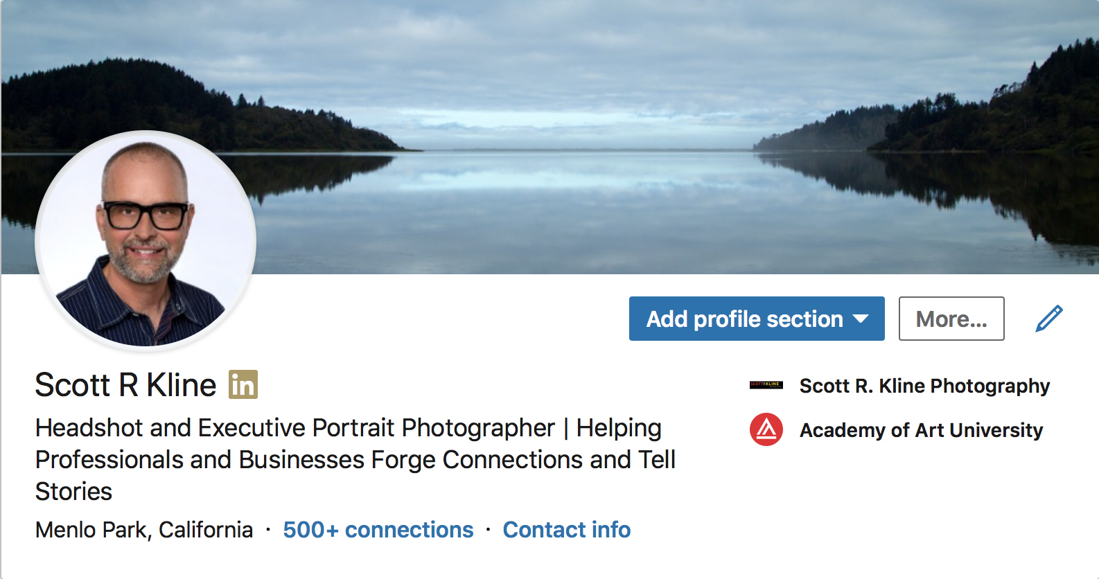 Make you Profile Photo the right size in your LinkedIn Header.