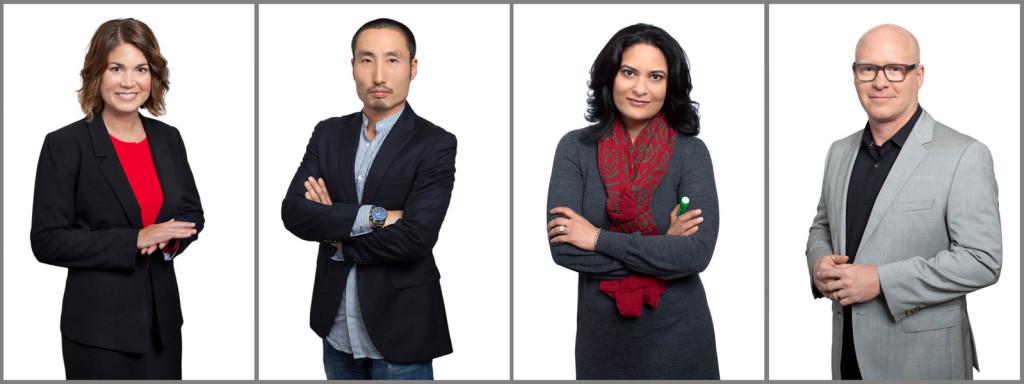 4 Three Quarter body architect portraits for SmithGroupJJR.