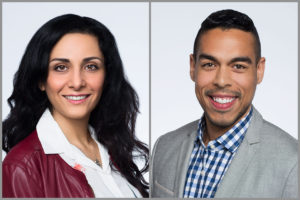 Headshots of two Upwardly Global Clients